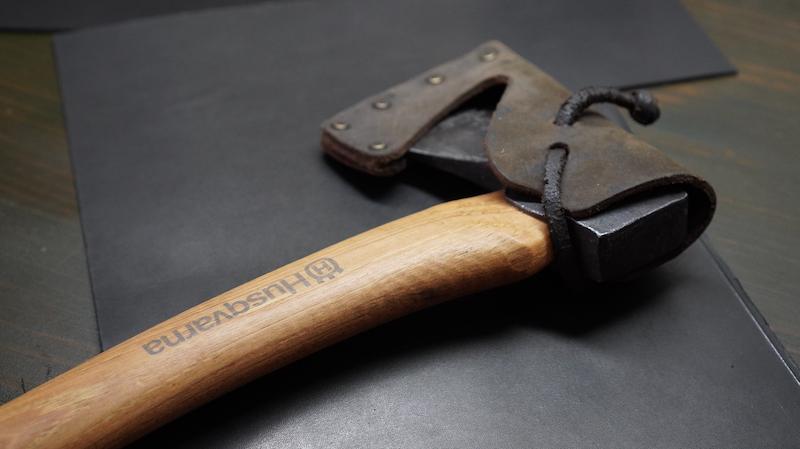 斧シースハンドメイド01